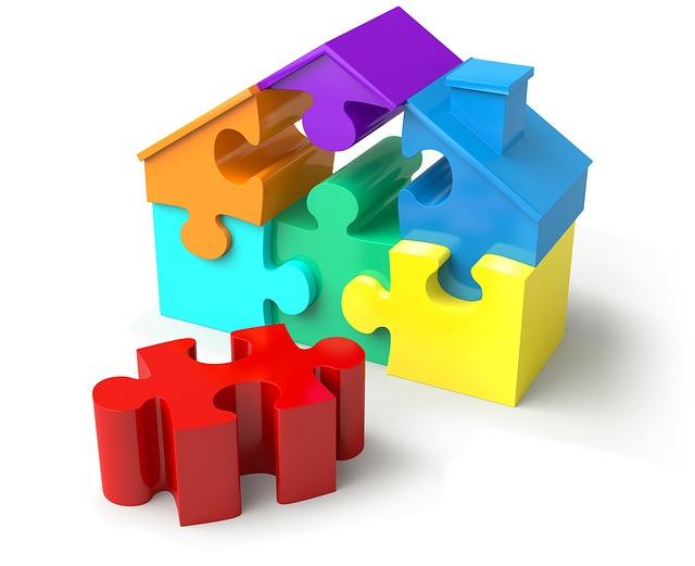 dům z puzzle