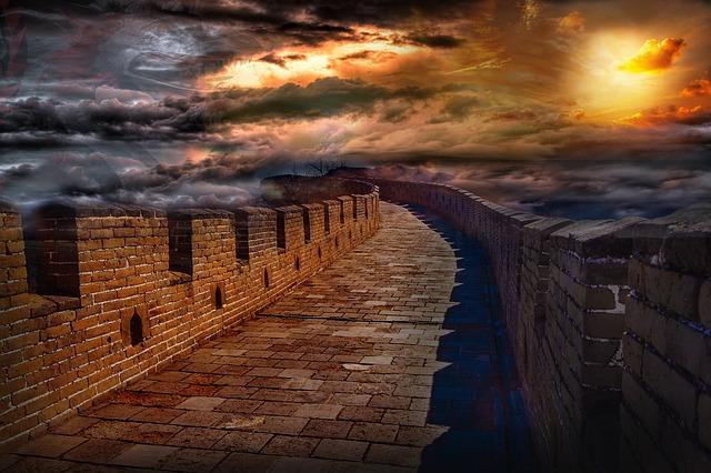 zeď hradu