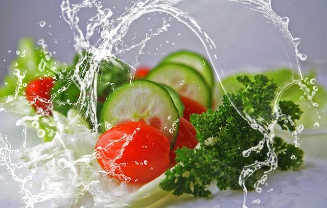 zelenina s vodou